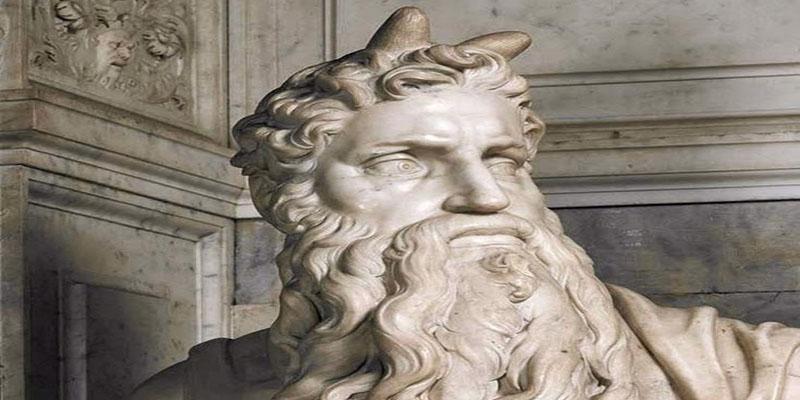 Moisés con cuernos - Miguel Ángel