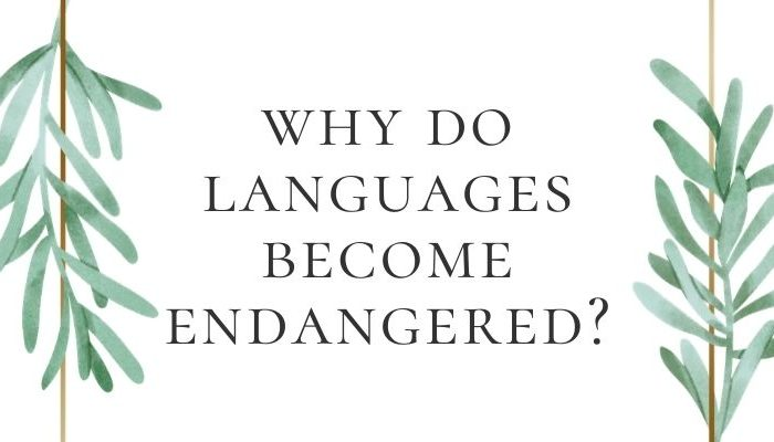 Endangered languages: Why do languages become endangered?