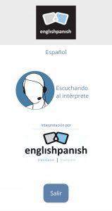 Interpretación remota de englishpanish